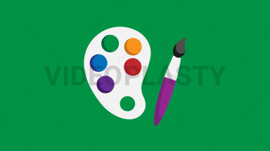 Artist Palette Flat Icon ANIMATION