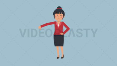 Asian Corporate Woman Disapproving ANIMATION