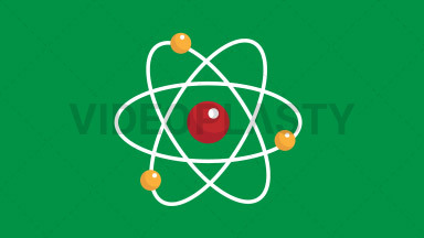 Atoms Flat Icon ANIMATION