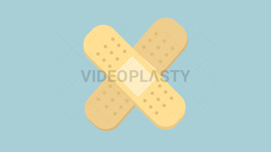 Band Aid Flat Icon ANIMATION