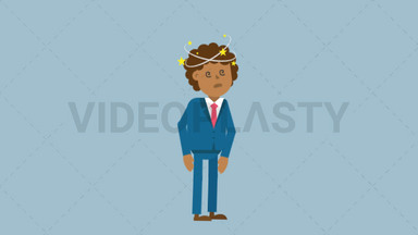 Black Corporate Man Being Dizzy ANIMATION