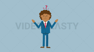 Black Corporate Man Looking Confused ANIMATION