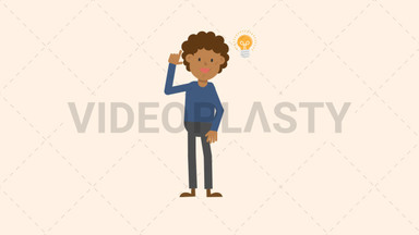 Black Man Getting an Idea ANIMATION