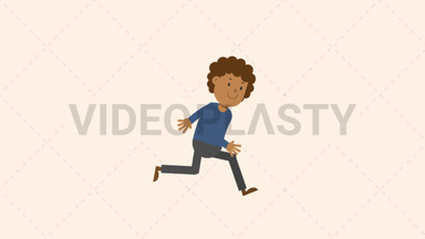Black Man Running ANIMATION