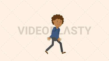 Black Man Walking ANIMATION