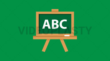 Blackboard Flat Icon ANIMATION
