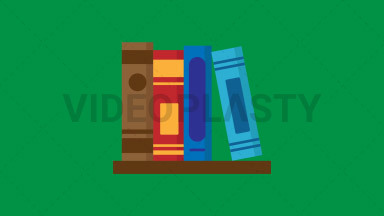 Books Flat Icon ANIMATION