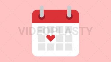 Calendar with Heart ANIMATION