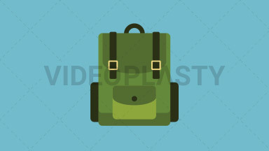 Camping Bag Flat Icon ANIMATION