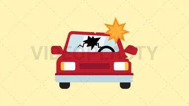 Car Crash Icon ANIMATION