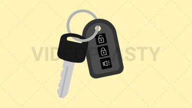 Car Key Icon ANIMATION