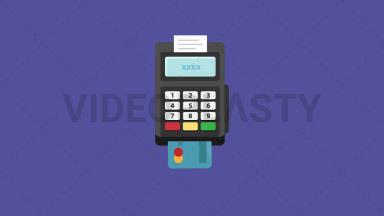 Card Terminal Flat Icon ANIMATION