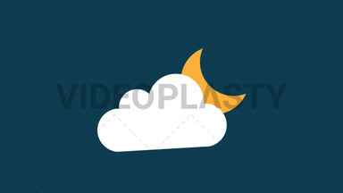 Cloudy Night Icon ANIMATION