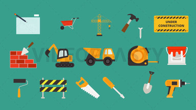 Construction Pack - 16 Icons ANIMATION