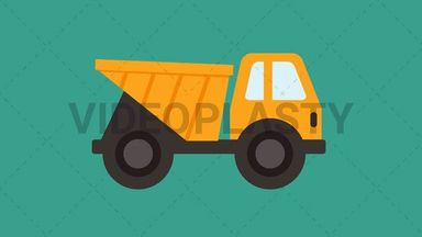 Construction Truck Icon ANIMATION