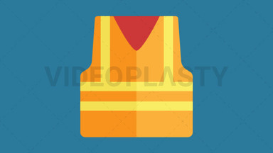 Construction Vest Icon ANIMATION