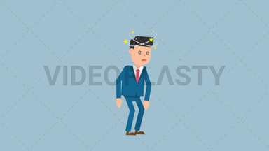 Corporate Man Being Dizzy ANIMATION