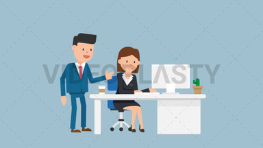 Corporate Man Giving Instructions ANIMATION