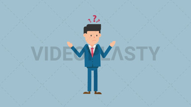 Corporate Man Looking Confused ANIMATION
