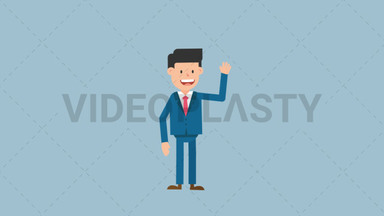 Corporate Man Waving His Hand ANIMATION