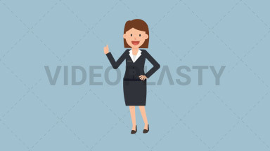 Corporate Woman Approving ANIMATION