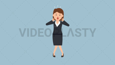 Corporate Woman Being Surprised ANIMATION