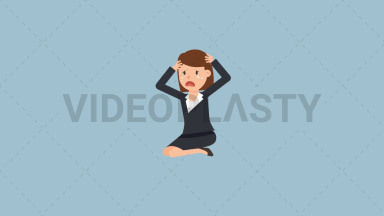 Corporate Woman Crying ANIMATION