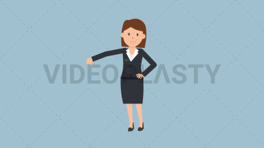 Corporate Woman Disapproving ANIMATION