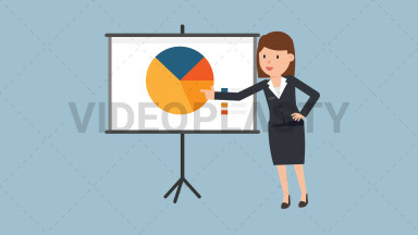 Corporate Woman Giving Presentation ANIMATION