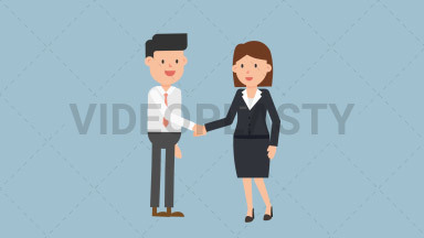 Corporate Woman Shaking Hand ANIMATION