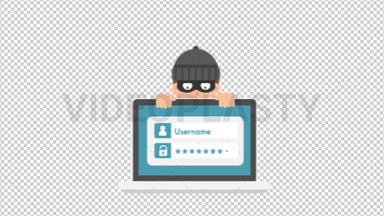 Criminal Stealing Password ANIMATION