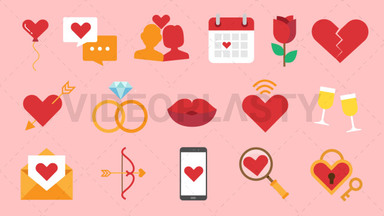 Dating Pack - 16 Icon Animations ANIMATION