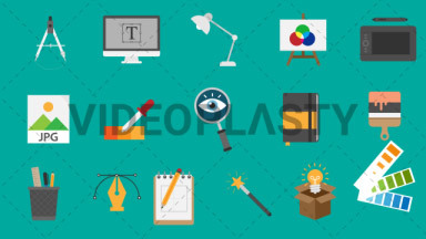 Design Pack 16 Flat Icons ANIMATION
