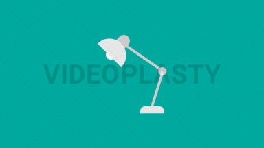 Desk Lamp Flat Icon ANIMATION