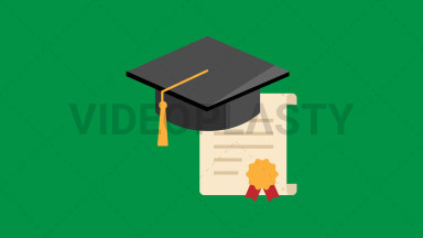 Diploma Flat Icon ANIMATION