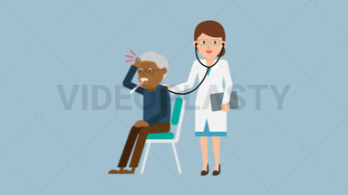 Doctor Checkup Black Patient ANIMATION