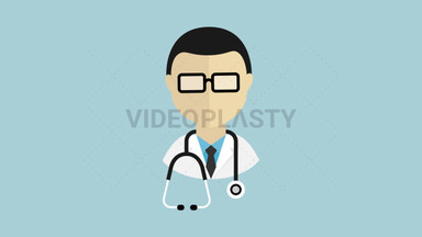 Doctor Flat Icon ANIMATION