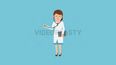 Doctor Holding Stethoscope ANIMATION