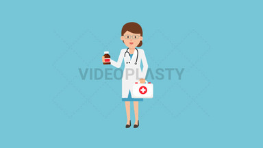 Doctor with First Aid Kit ANIMATION