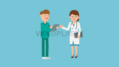 Doctor with Nurse ANIMATION
