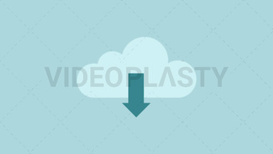 Download from Cloud Icon ANIMATION