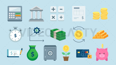 Finance Pack - 16 Icons ANIMATION