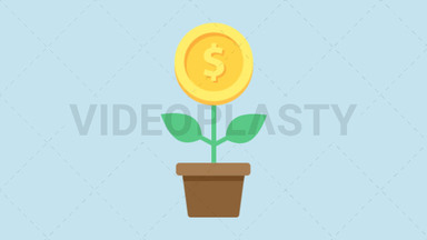 Financial Growth Icon - Dollar ANIMATION