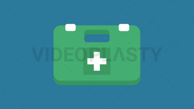 First Aid Kit Icon ANIMATION