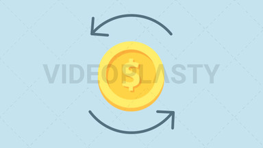 Foreign Exchange Icon - Dollar ANIMATION