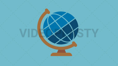 Globe Flat Icon ANIMATION