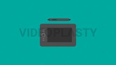 Graphic Tablet Flat Icon ANIMATION