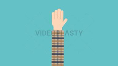 Hand Gesture: High Five ANIMATION