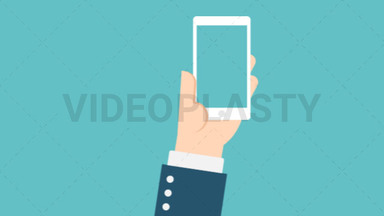 Hand Gesture: Holding a Phone with Transparent Screen ANIMATION