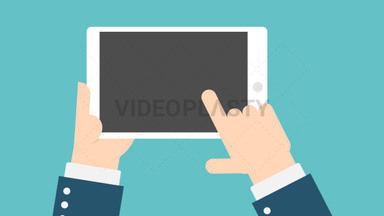 Hand Gesture: Holding a Tablet ANIMATION